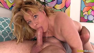 Hot mature sex with slutty grandma penny sue