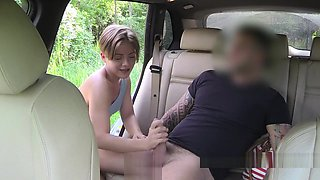 Big cock inked taxi driver bangs amateur babe