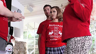 Blonde teen blowjob 69 and gym anal Heathenous Family Holida