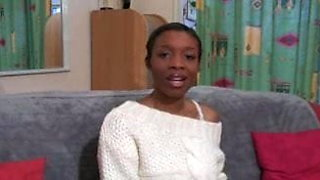 french black girl first casting fuck
