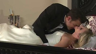 Wedding night sex with his beautiful bride Scarlet Red