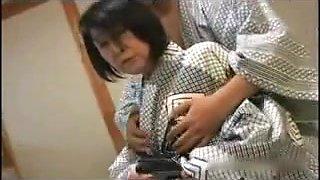 Japanese Granny as skinny as shy - censored