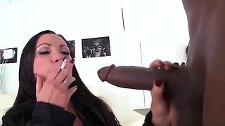 big titty smoking slut Mom sucks n fucked by BBC