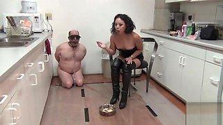 Femdom mistress An Li humiliates splosh slave