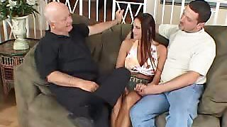 Busty Cheating Wife Striptease