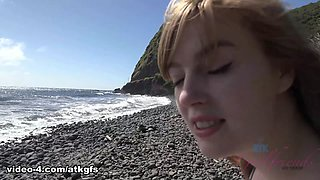 Dolly Leigh in She gives you a blowjob in the tub and you creampie her in bed - ATKGirlfriends