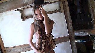 Veronica Fasterova Caresses Her Perfect Tight Body