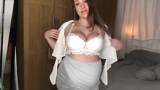 Pregnant Wife teases and gets Fucked hard
