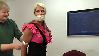 NGB27 Blonde Secretary girl bound and gag by her boss