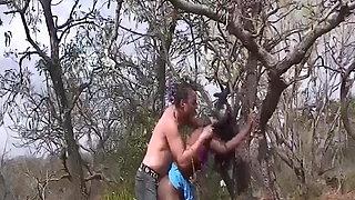 skinny african bdsm safari girl