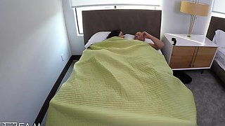 Caught! Horny Step-Sister Slides Into Step-Brothers Bed