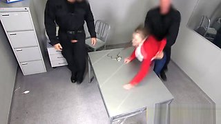 European teen is getting abused at jail center after being caught for being on the streets