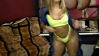 Catia Carvalho Brazilian Striper spandex + swimsuit