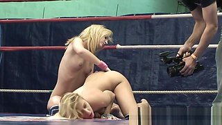 Wrestling lesbos pussylicking with passion