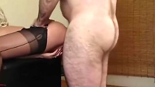 Horny Milf in sexy lingerie fucked hard