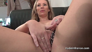 Anal casting couch of a sublime french blonde swallowing cum