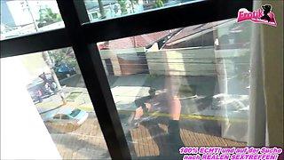Black hair german amateur secretary anal public on window