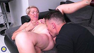 Mature mother seduce young bull