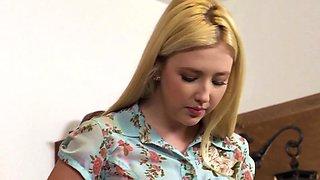 Busty british lezdom dominates innocent teen