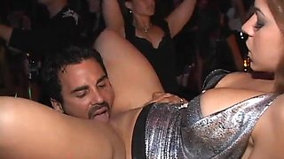Gorgeous babe fucks in the night club