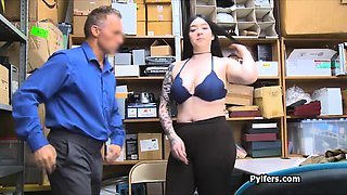 Curvy big tit punished for stealing underwear
