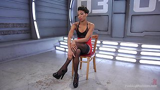 Sexy Nikki Darling masturbates on the floor using her favorite sex toys