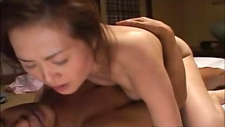Asian prostitute rides customers cock