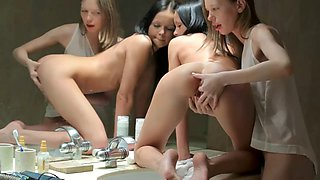 Teen girls love to lick and play eachs pussy after school