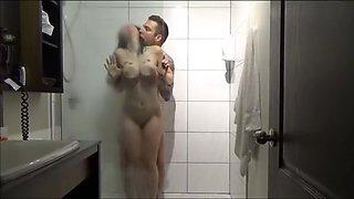 Big Tit Brunette Amateur In The Shower