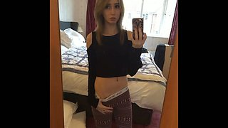Skinny Emo teen with cunningly sexy eyes loves showing off her private parts
