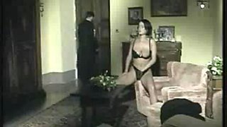 Italian vintage scene with a busty babe getting facial