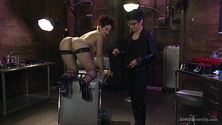 Kinky chick Ingrid Mouth likes to be punished with different toys