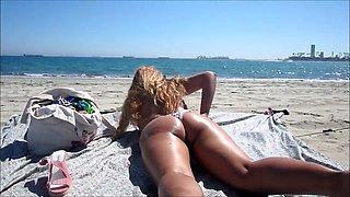 Nina Latina at the beach