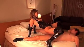Asian Fucking in PVC