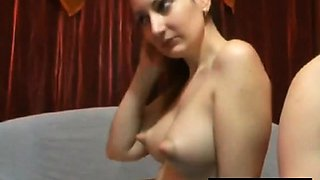 Puffy nippled webcam babe teasing cock