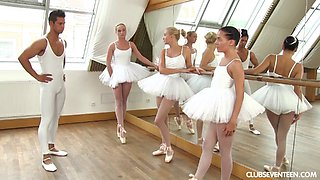Sexy ballerinas going totally wild in an unforgettable foursome