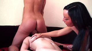 Fetish Ladies order slaves to lick their pussies