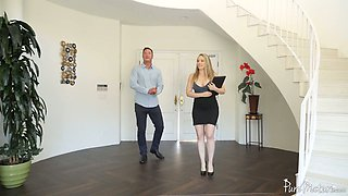 Juggy and bootyful realtor Linn Karter gets intimate with handsome client Danny Mountain