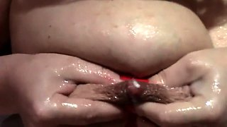 Big breasted mature wife blows a cock and milks her nipples