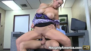 Naughty america abbey brooks fucking in the chair