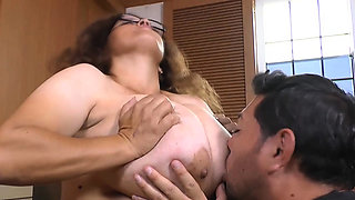 Busty Stepmom Rosaly fulfilling Pablo's fantasy