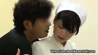 Japanese Asian Nurse Sex Care Her Pacients Voyeur