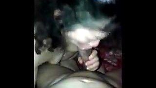 The old woman oral sex bukkake