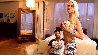 Lexxxy Belle is a nasty blonde in need of a stiff pleasure rod