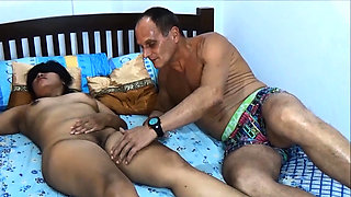 Blindfolded Thai wife stars in this amateur threesome