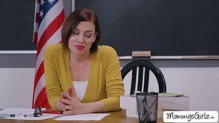Teacher sovereign fucks her stepdaughter