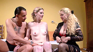 German Wife Suprise Husband with Teen Hooker and Watch Fuck