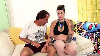 Inked Fat Floozy Nova Jade Mounts a Dick