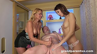 Mommy shares her hubby with the petite step daughter