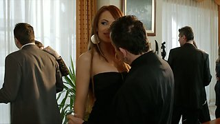 Blond and brunet babes are having dirty foursome sex